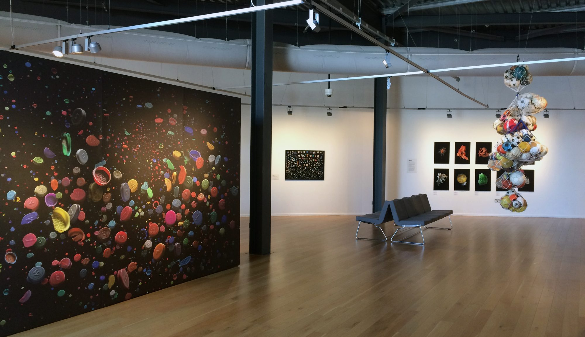 Installation view of Our Plastic Ocean