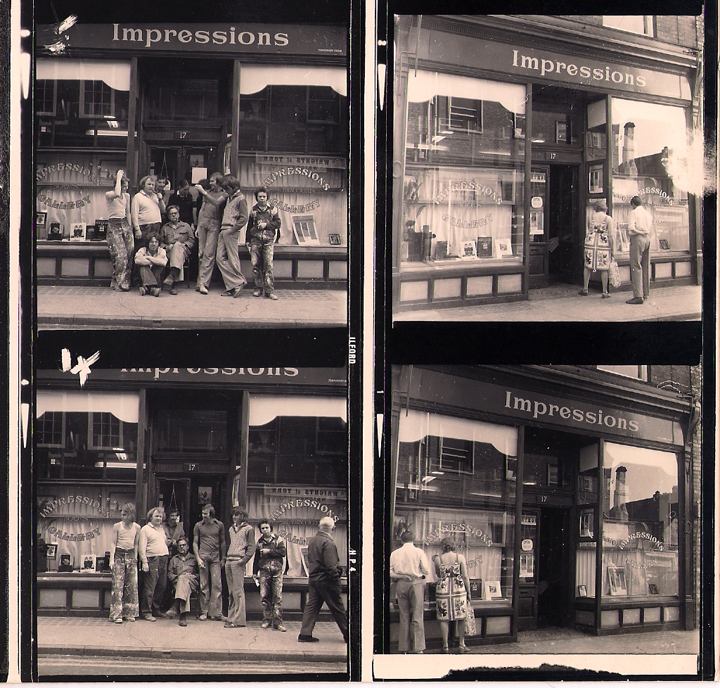Impressions Gallery in York in 1976