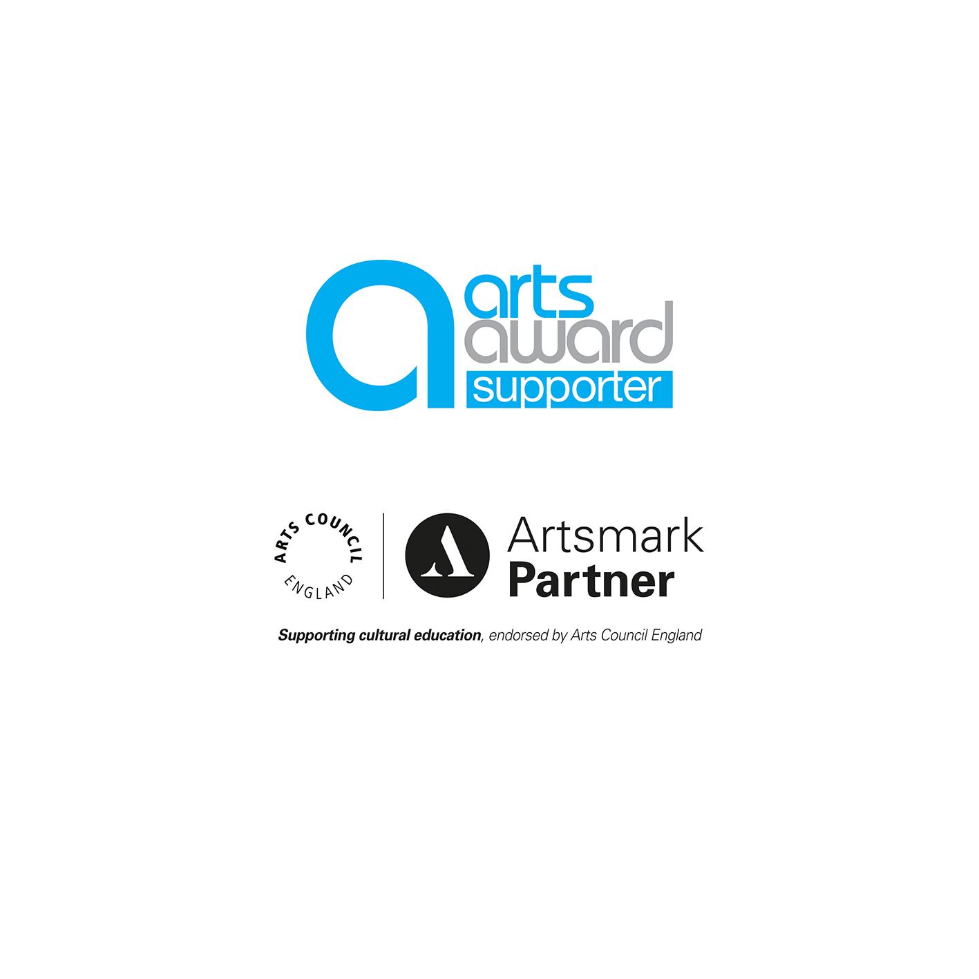 Artsmark and arts award logos