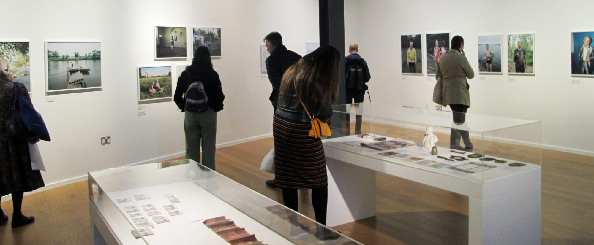Visitors to the exhibition Borderland