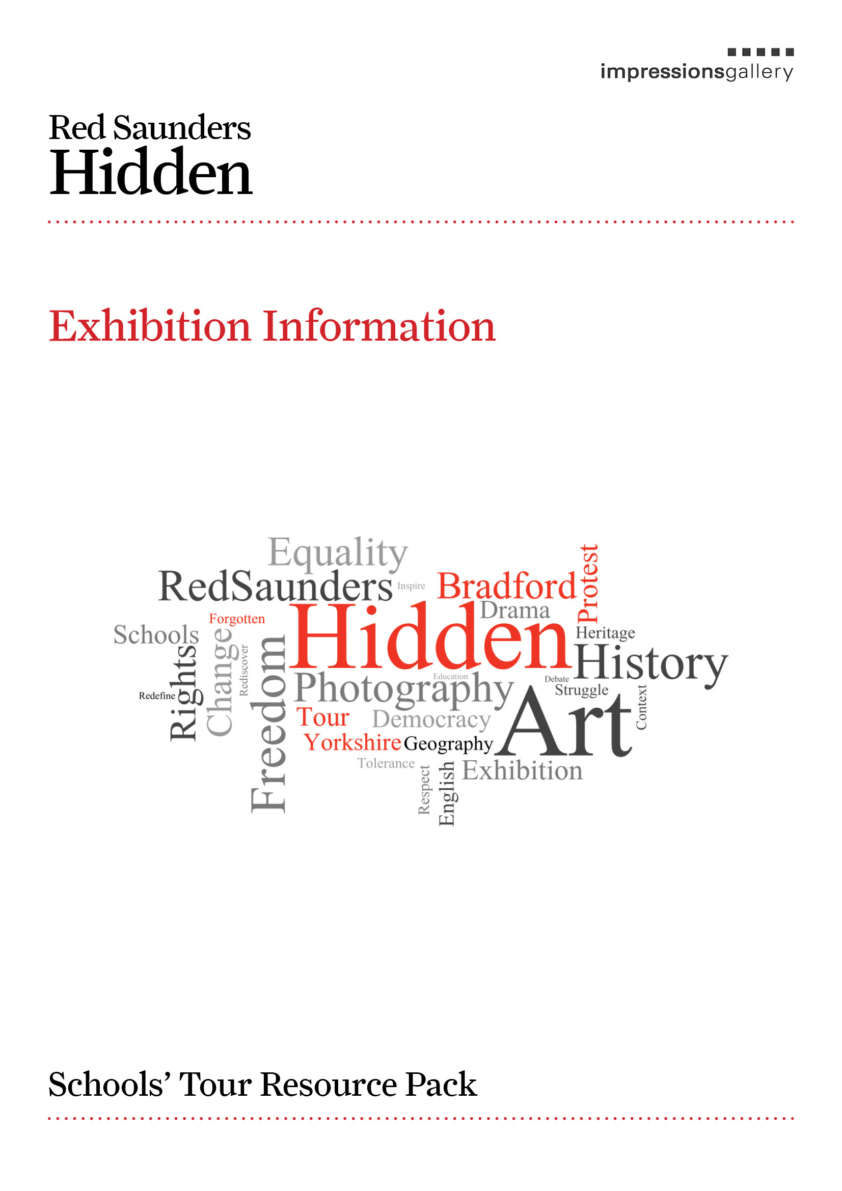 Resource Pack Cover Hidden Schools Tour Exhibition Information