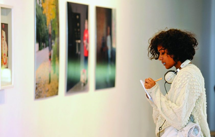 Student visiting Impressions Gallery