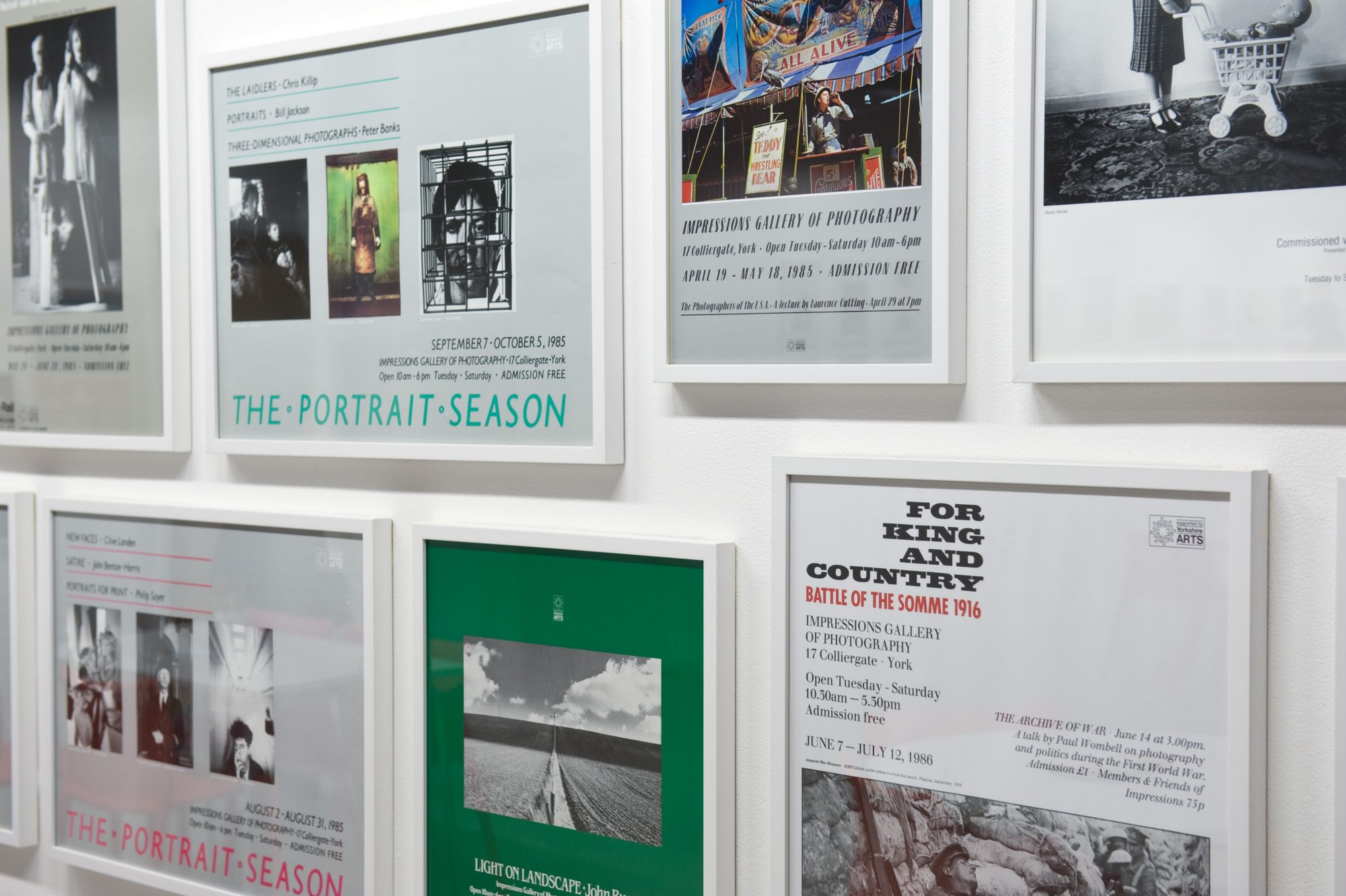 Posters from past exhibitions at Impressions