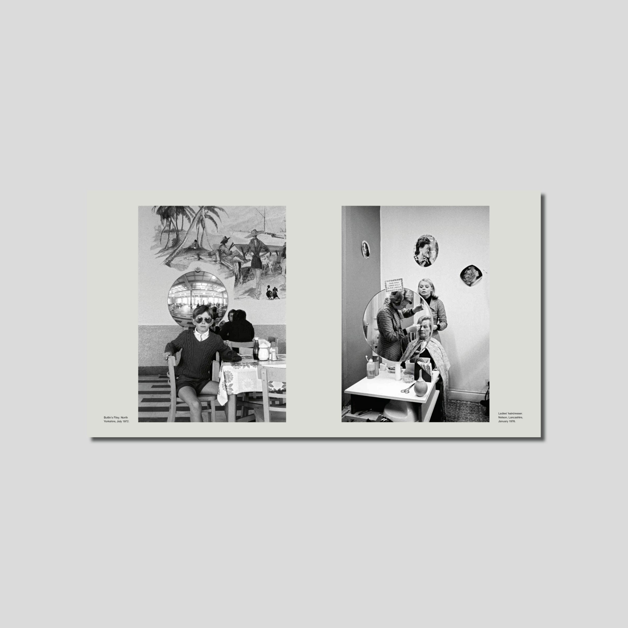 Inside of photobook Daniel Medows Now and Then 1970 - 2015