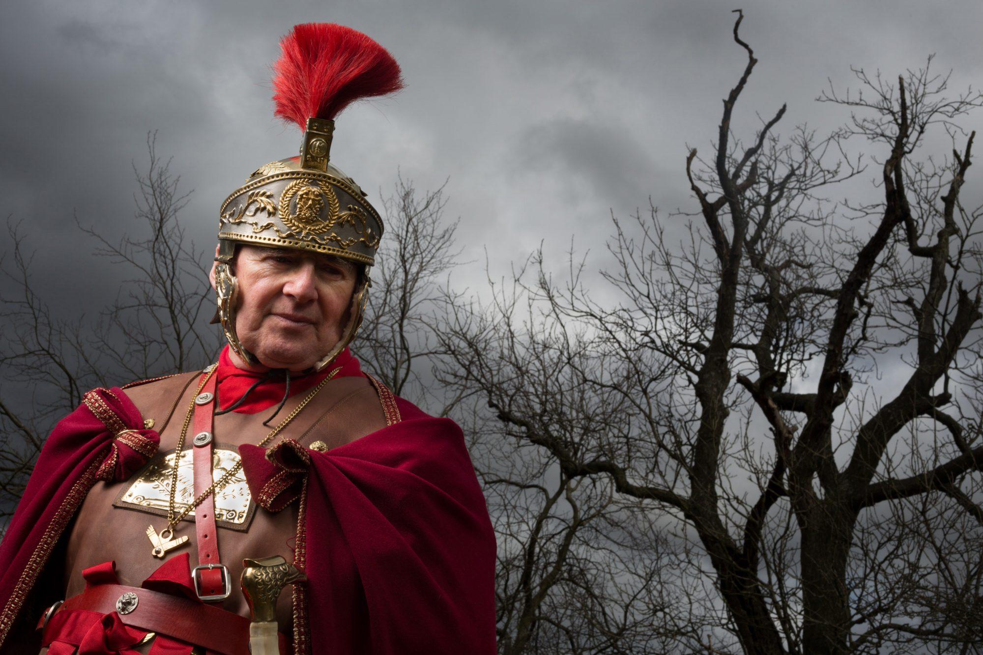 Jon Richardson, known as Gaius Iulius Raeticus, of the Antonine Guard, Auchinstarry, Glasgow, 2013 © Jeremy Sutton-Hibbert
