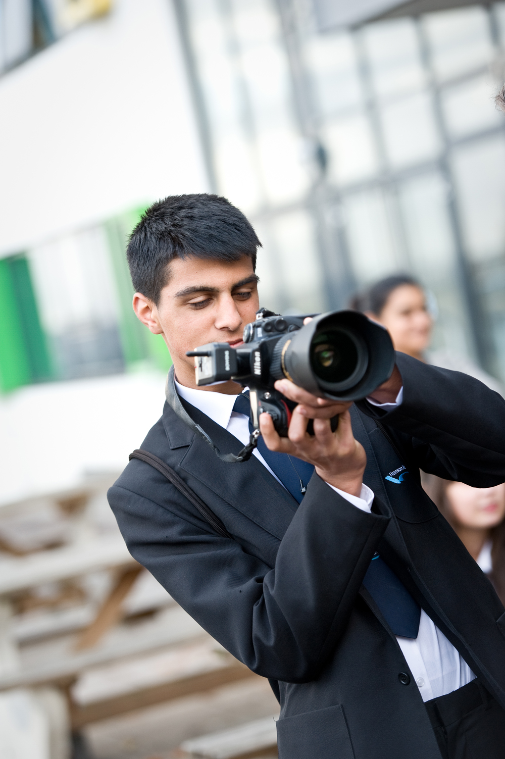 Student taking part in photography workshop