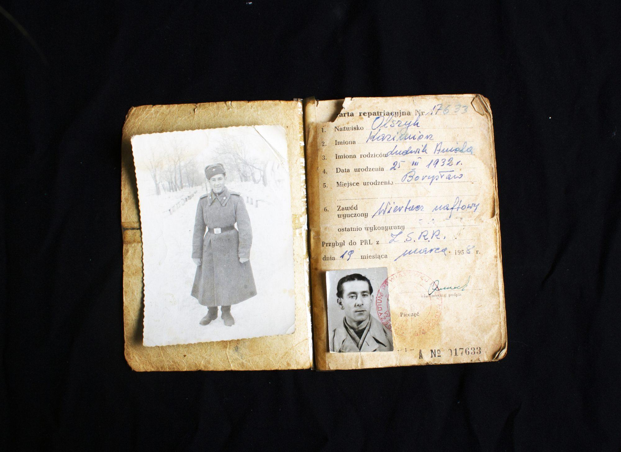 Alicja Kaciun's great-grandfather's passport