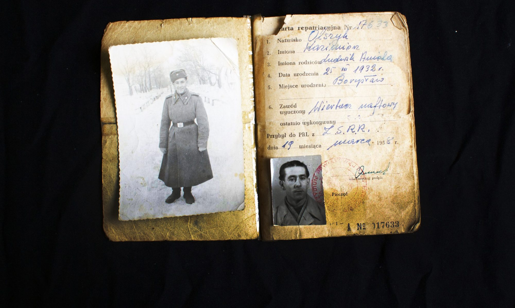 An old passport