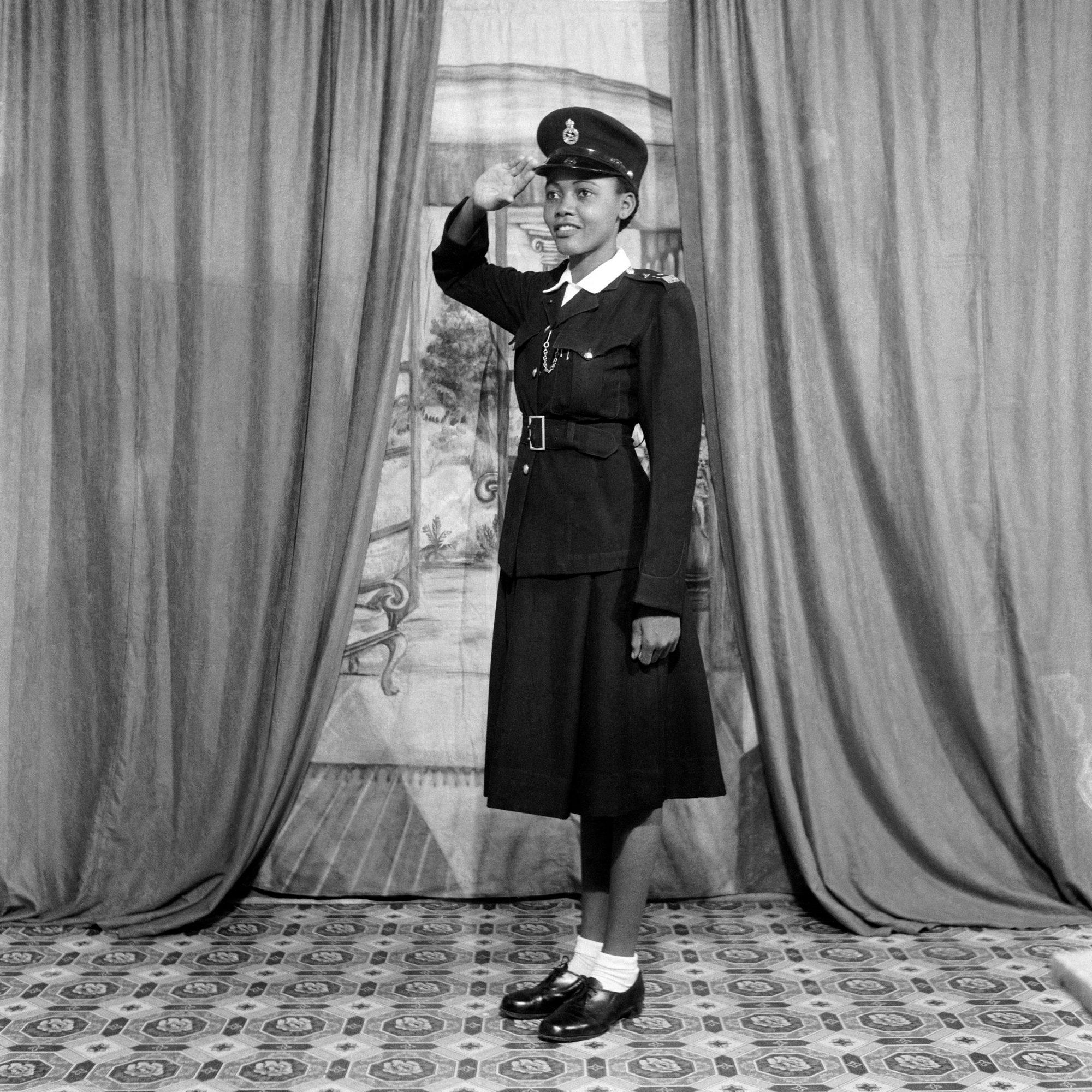 Policewoman No.10 Selina Opong, Ever Young Studio, Accra, Ghana, 1957 © James Barnor/Autograph ABP