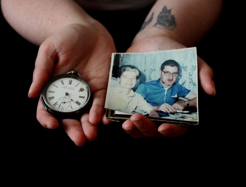 Photograph by Isla Stead-Price, holding a watch that has been passed down four generations of her family.